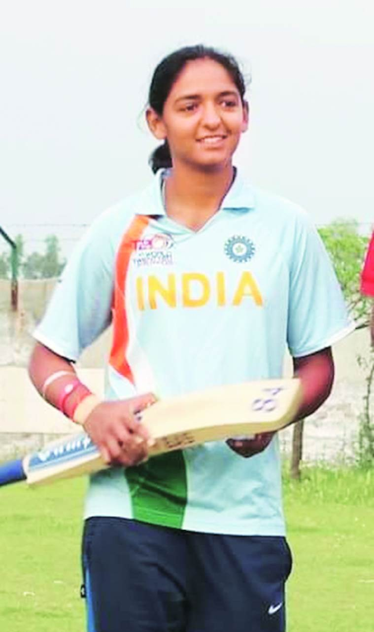 Tricky Pitch: Padded up for DSP job, she faces Railway googly