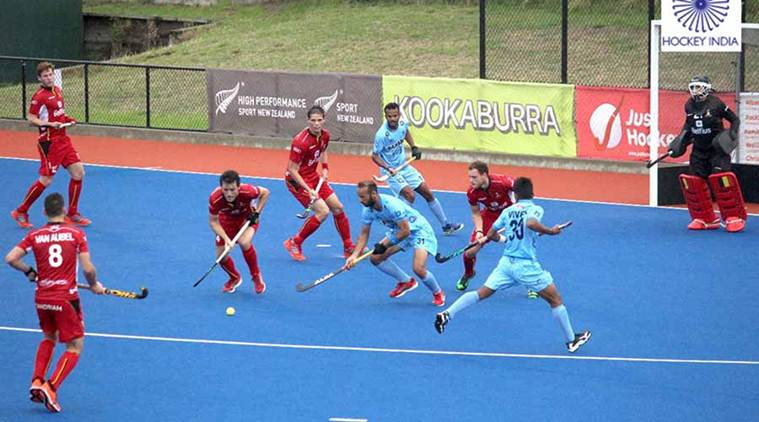 Indian men's hockey team, India vs Belgium, Hockey India, Hockey India news, sports news, hockey, Indian Express