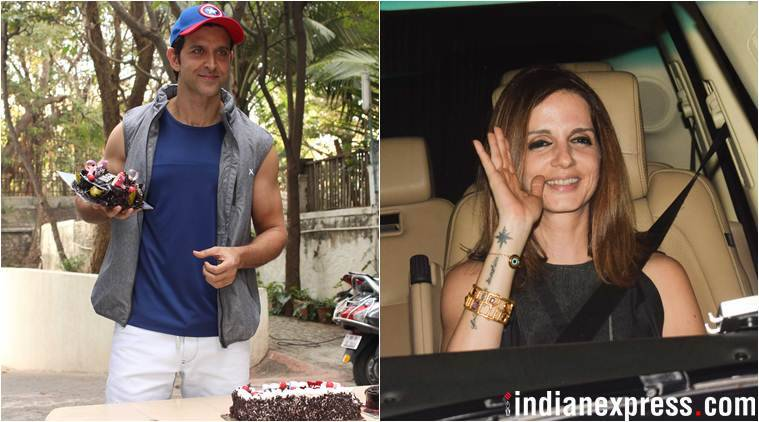 sussanne khan attends hrithik roshan birthday party