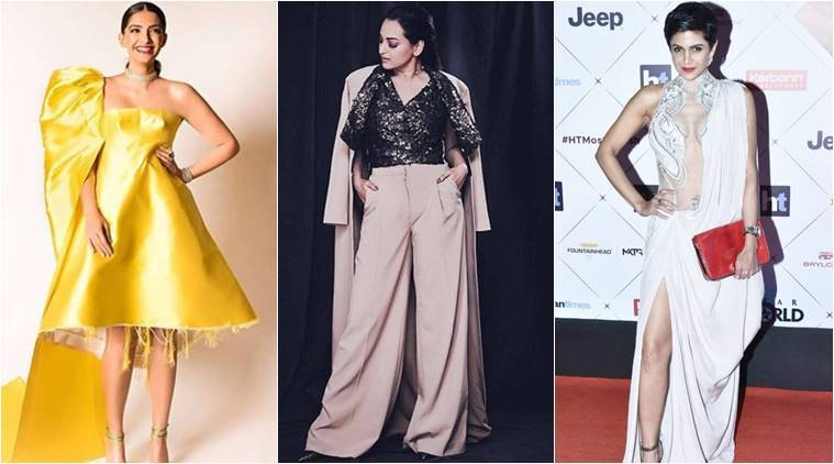 ht most stylish awards 2018, Sonam Kapoor, Sonam Kapoor fashion, Sonakshi Sinha, Sonakshi Sinha fashion, Mandira Bedi, Mandira Bedi fashion, Sangeeta Bijlani, Sangeeta Bijlani fashion, indian express, indian express news