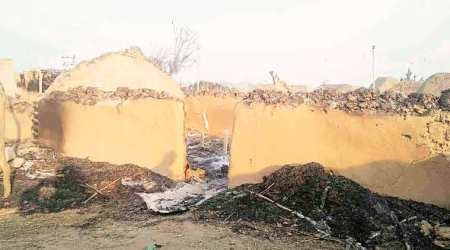 J&K: Homes in ashes, villagers wait until it's safe to go back and rebuild