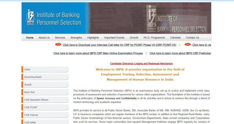ibps, ibps.in, ibps po mt interview call letter, ibps po interview