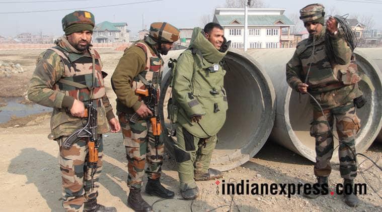iedbomb, srinagarbaramullahighway, crpf, jammu kashmir, ied bomb diffuse, kashmir highway iedblast, indian express