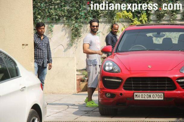 shahid kapoor at the gym