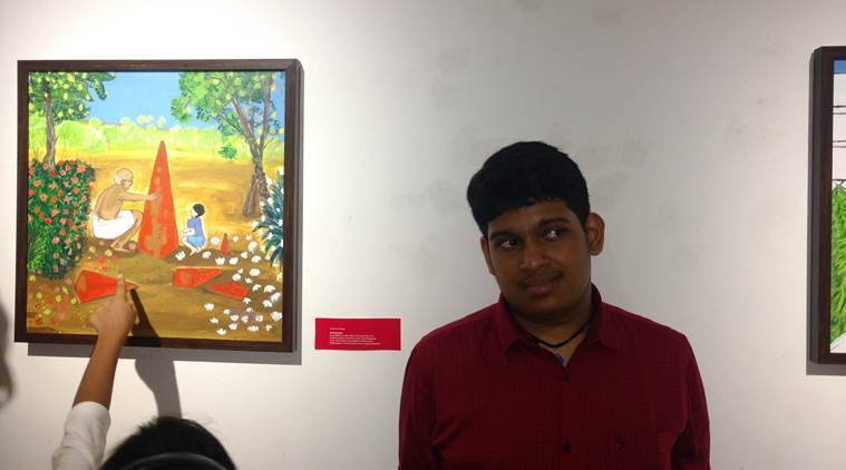 aspergers, aspergers syndrome, artist who has aspergers, painter with aspergers syndrome, siddharth artist aspergers syndrome, indian express, indian express news
