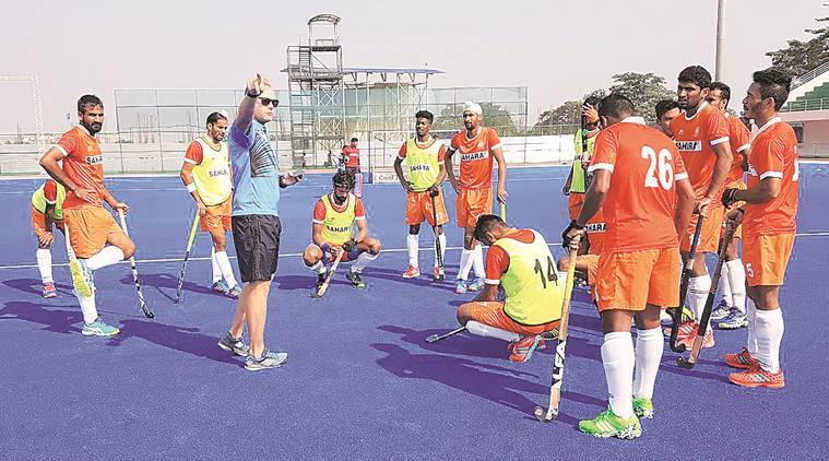 Indian hockey team training session