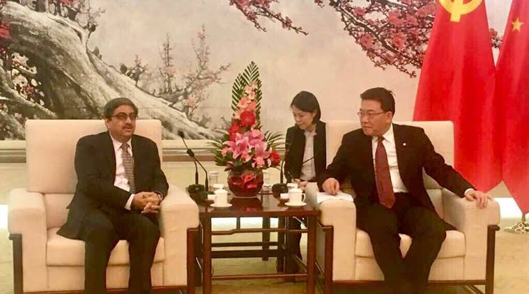 india-china, Gautam Bambawale, Guo Yezhou, Chinese communist leader, Indian envoy in China, India news, indian express news
