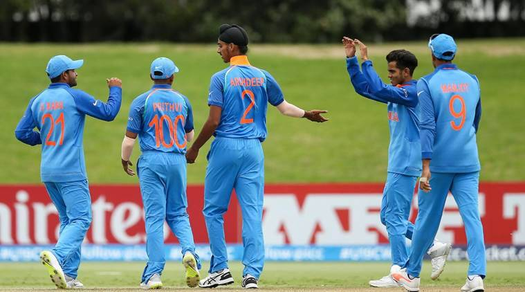 ICC U-19 World Cup 2018, ICC U-19 World Cup 2018 quarter-final, India vs Bangladesh, Prithvi Shaw, sports news, cricket. Indian Express