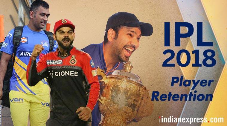 IPL 2018 player retention
