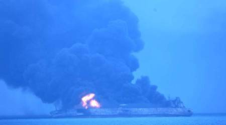 China says sunken Iranian tanker may be leaking bunker fuel