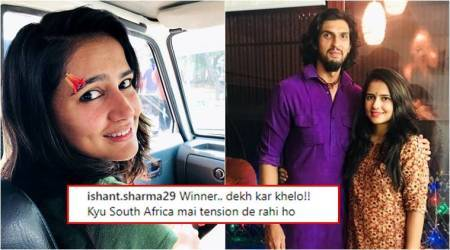 Ishant Sharma's concerned reply to his wife's 'bandaged' photo will make you go 'awww'
