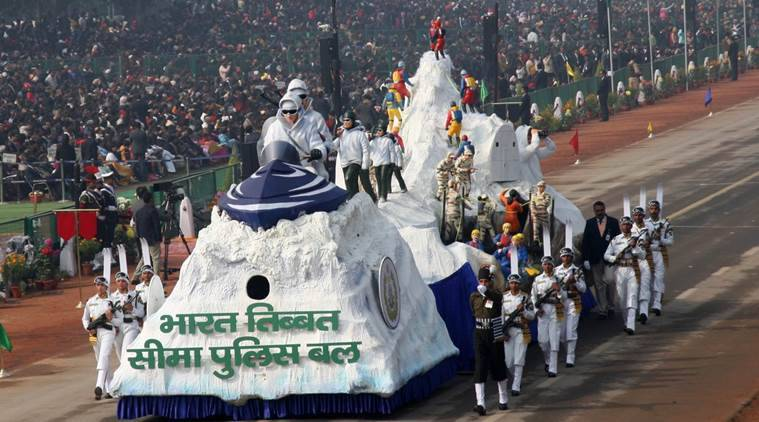 republic day 2018, republic day celebrations, itbp tableau, republic day tableau, itbp tableau, indian express
