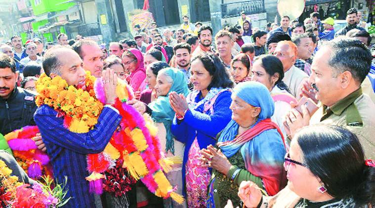 New Himachal CM Jai Ram Thakur gets rousing welcome on his first visit to home district