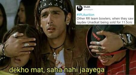 Jaydev Unadkat becomes costliest Indian player at IPL auction day 2, Twitterati respond with memes andhumour