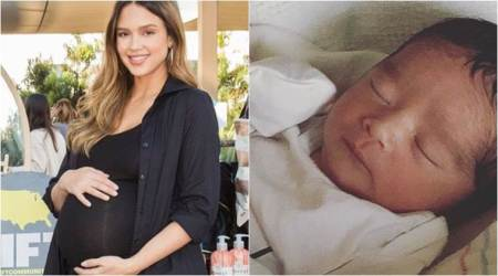 Jessica Alba gives birth to a baby boy, names himHayes