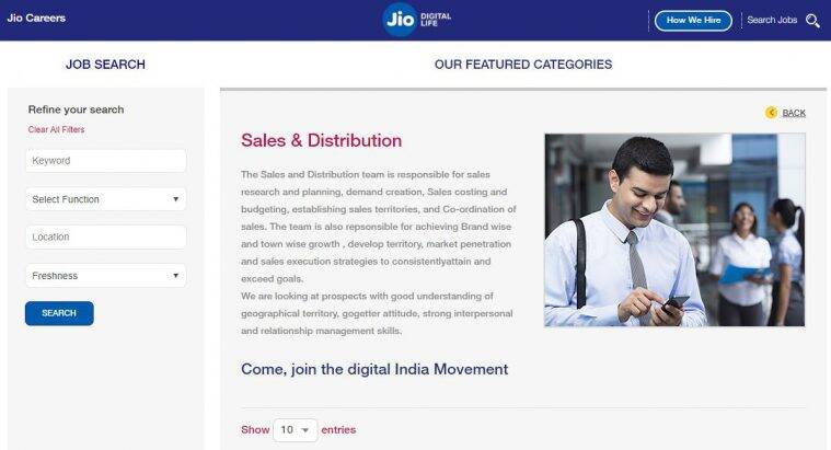 jio, reliance, sales jobs, careers.jio.com, latest jobs