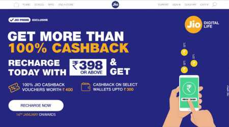 Jio cashback offer of 100% on recharges above Rs 398: Here are the details
