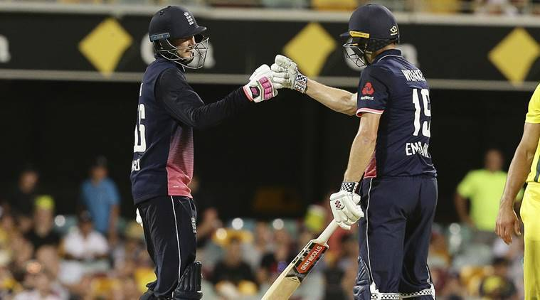 Joe Root (50) and Eoin Morgan (69) added 115 runs for the 4th wicket against Australia in the first ODI. (Photo - getty images)