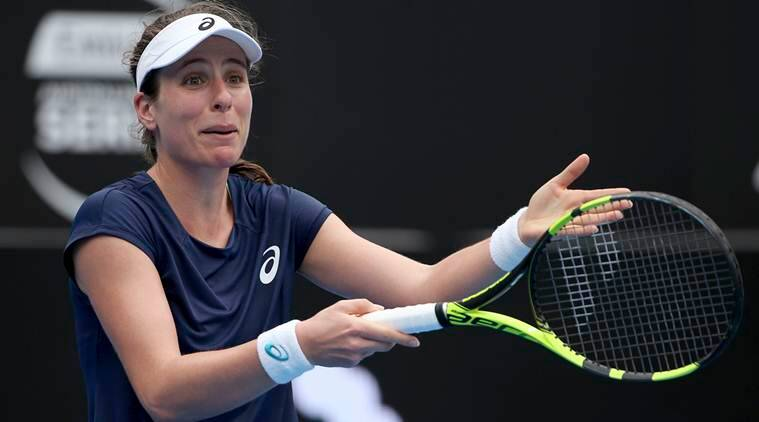 Johanna Konta suffers first-round exit at Sydney International