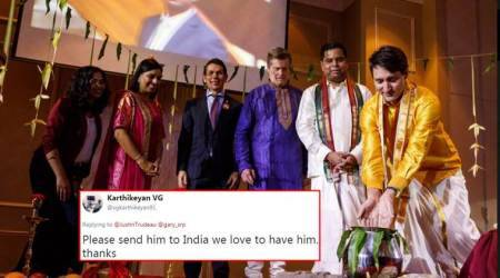 Justin Trudeau celebrates Pongal wearing a veshti; Twitterati say 'awesome'