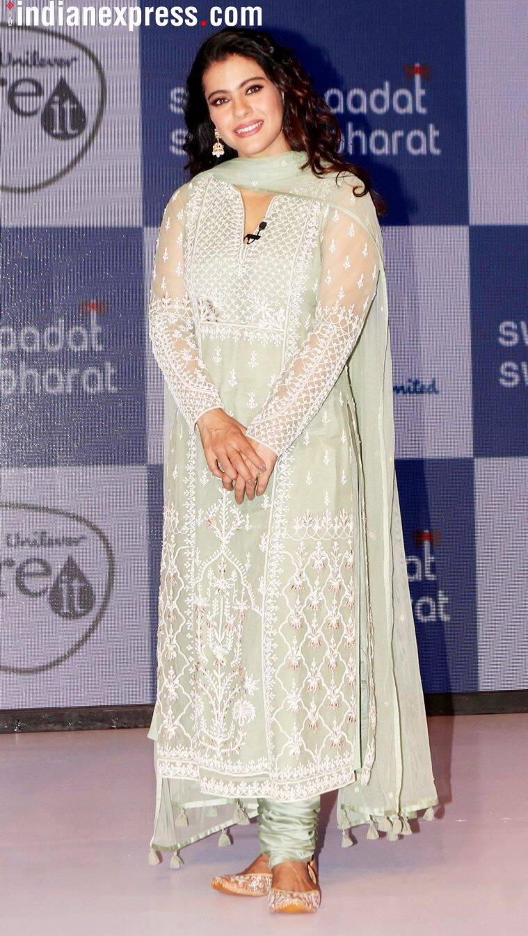 Kajol, Kajol ethnic wear, Kajol salwar suit, Anita Dongre, Kajol Anita Dongre, Sonakshi Sinha, Sonakshi Sinha Anita Dongre, Kajol fashion, Kajol style, Kajol updates, Kajol latest photos, Kajol latest news, Kajol images, Kajol pictures, celeb fashion, bollywood fashion, indian express, indian express news