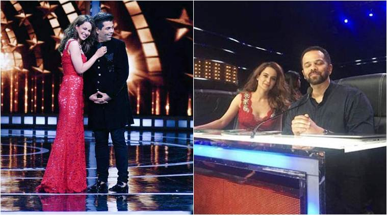 kangana ranaut with karan johar on India's next superstar