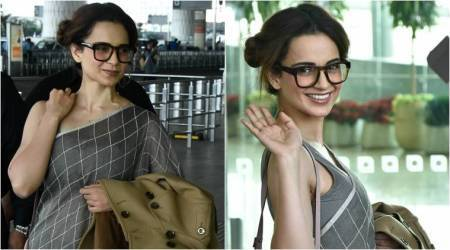 Kangana Ranaut aces her sari look with this one simple spacey trick