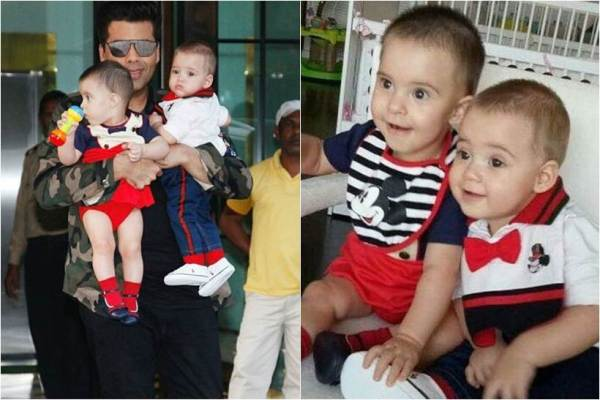 photos of karan johar's children yash and roohi