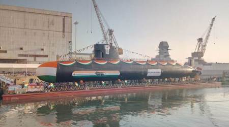 Indian Navy launches third Scorpene class submarine 'Karanj'