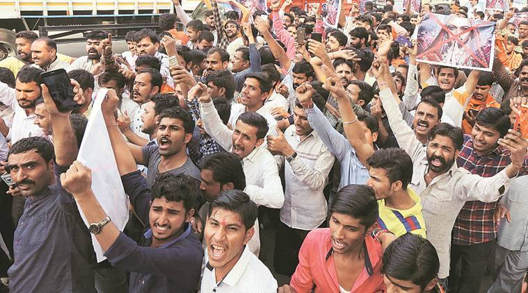 Padmavat row: Karni Sena members detained outside Censor Board office