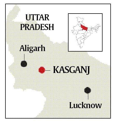 kasganj, up communal clashes, uttar pradesh, obc, hindu muslim violence, indian express