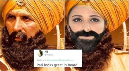 akshay kumar, parineeti chopra, karan johar, kesari, kesari twitter announcement, karan johar parineeti chopra goof up, karan chopra announces lead actress of kesari, twitter reactions, indian express, indian express news
