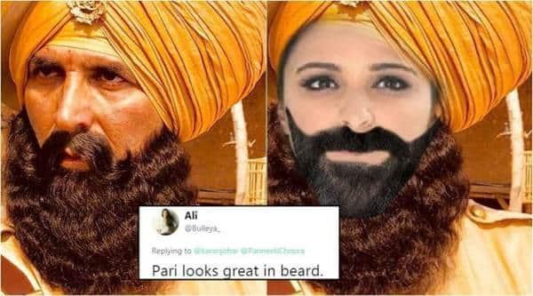 akshay kumar, parineeti chopra, karan johar, kesari, kesari twitter announcement, karan johar parineeti chopra goof up, karan chopra announces lead actress of kesari, twitter reactions, indian express, indian express news
