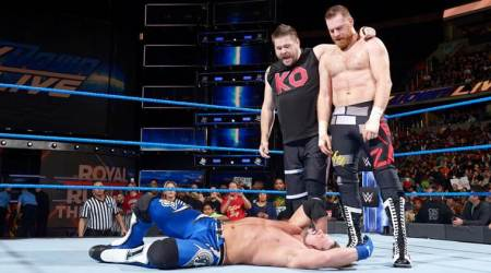 WWE Smackdown results: AJ Styles gains win over Kevin Owens, but gets beaten up by Sami Zayn