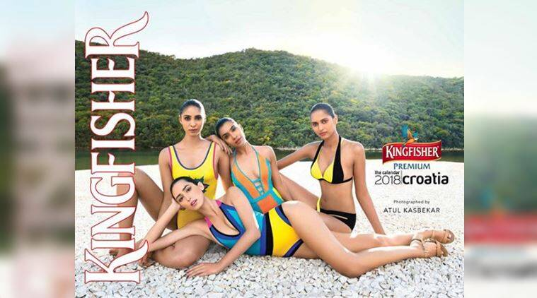 kingfisher, kingfisher calendar, kingfisher 2018 calendar, kingfisher 2018 calendar models, kingfisher croatia, fashion news, indian express