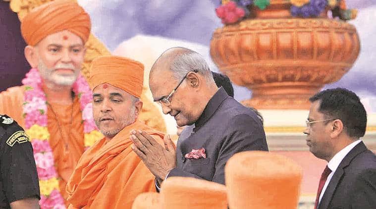 Ram Nath Kovind, President Kovind, Swaminarayan sect, India news, indian express news