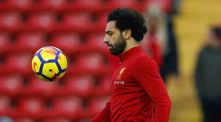 Liverpool's Mohammed Salah at Anfield