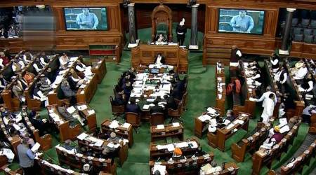 Man raises slogans inside Lok Sabha, whisked away by security men