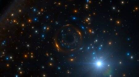 Strange star helps discover massive inactive black hole
