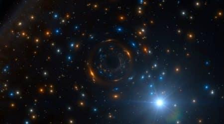 Strange star helps discover massive inactive blackhole