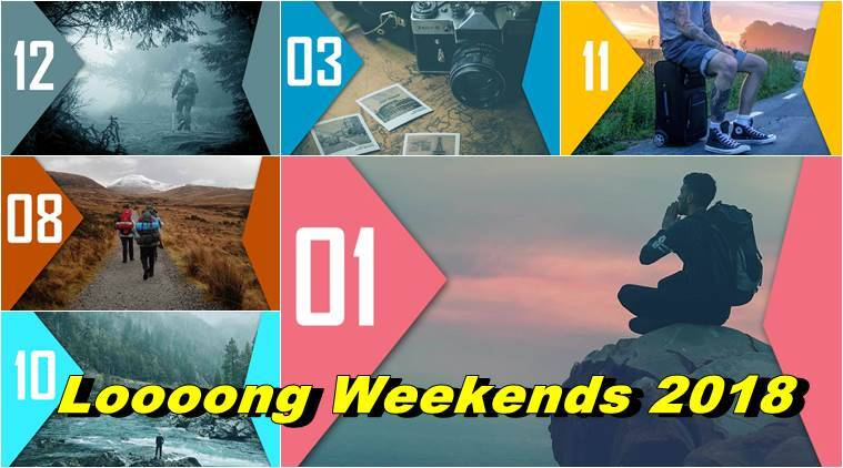 long weekend, long weekend 2018, long weekend trip planner, where to go in 2018, indian express, indian express news