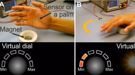 Electronic skin tattoo lets hand gestures control physical and virtual objects