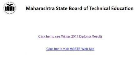 MSBTE declares winter diploma exam 2017 results at msbte.org.in