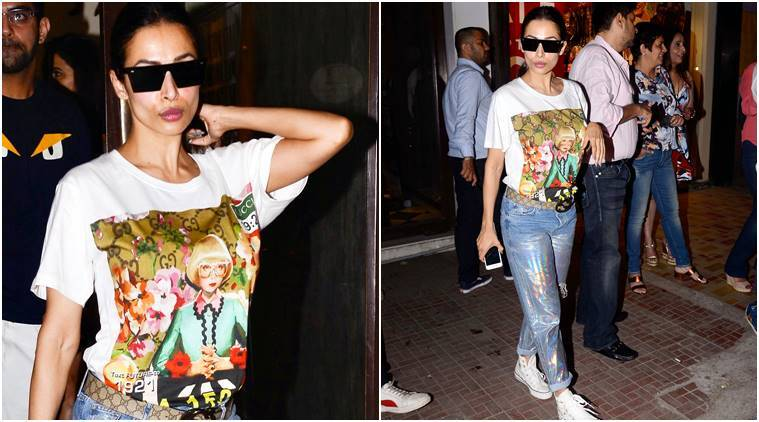 Malaika Arora, Malaika Arora fashion, Malaika Arora holographic jeans, Malaika Arora style, Malaika Arora latest photos, Malaika Arora latest news, Malaika Arora updates, Malaika Arora images, Malaika Arora pictures, celeb fashion, bollywood fashion, indian express, indian express news