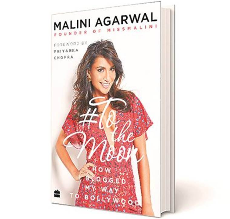 Malini Agarwal, Malini Agarwal's book cover, Malini Agarwal's book, To The Moon: How I Blogged My Way To Bollywood, Malini Agarwal Book, Lifestyle News, Indian Express, Indian Express News