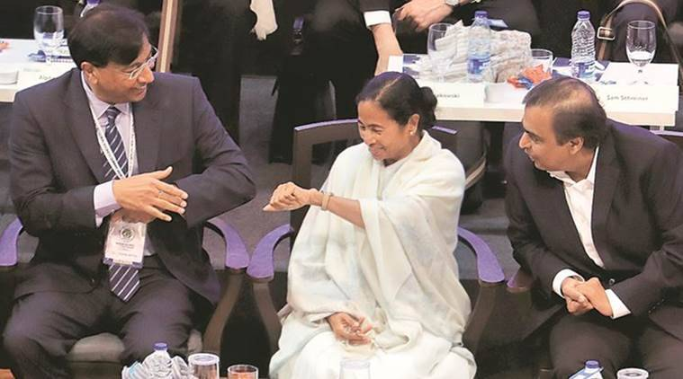 Bengal Global Business Summit, Bengal Business Summit, Mamata Banerjee, WB CM Mamata Banerjee, Laxmi Mittal, Mukesh Ambani, India News, Indian Express, indian Express News