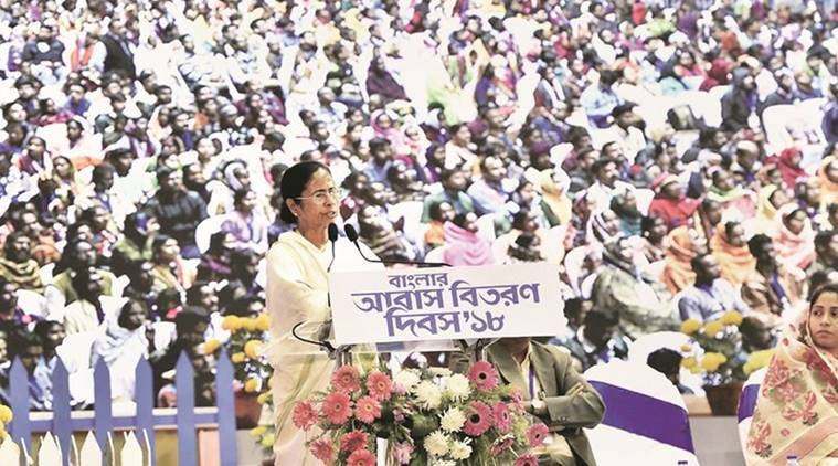 Bangla Awas Yojana, CM Mamata Banerjee, Mamata Banerjee, rural Bengal houses, rural Bengal five lakh houses, kolkata news, indian express, indian express news