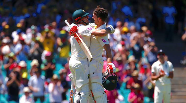 Mitchell and Shaun Marsh at the Sydney Cricket Ground