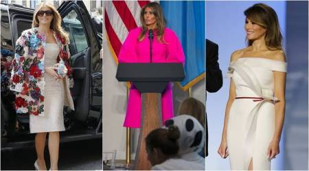 Melania Trump, Melania Trump latest photos, Melania Trump fashion, Melania Trump one year fashion, Melania Trump political statements in fashion, Melania Trump fashion designer