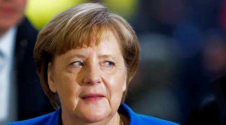 Angela Merkel decries US pullout from Iran deal, gets peace prize